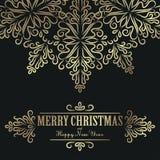 Weinlese-Weihnachtshintergrund für Einladung, stock abbildung