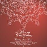 Weinlese-Weihnachtshintergrund für Einladung, vektor abbildung