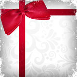 Weinlese-Weihnachtshintergrund mit Farbband Stockfotos