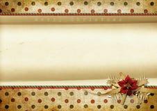 Weinlese-Weihnachtshintergrund mit Platz für Text Stockbilder