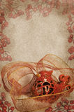 Weinlese-Weihnachtskardinal Lizenzfreies Stockfoto