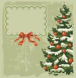 Weinlese-Weihnachtskarte Lizenzfreie Stockfotos