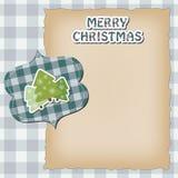 Weinlese-Weihnachtskarte lizenzfreie abbildung