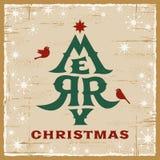Weinlese-Weihnachtskarte stockbilder
