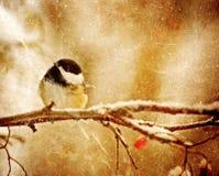 Weinlese-Weihnachtskarte. Lizenzfreies Stockfoto