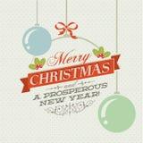 Weinlese-Weihnachtskarte Stockfotos
