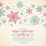 Weinlese-Weihnachtskarte - Illustration Lizenzfreie Stockfotografie