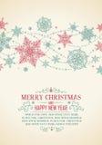 Weinlese-Weihnachtskarte - Illustration Lizenzfreies Stockfoto