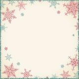 Weinlese-Weihnachtsrahmen - Illustration Weinlese-leeres Rahmen-Quadrat Lizenzfreies Stockfoto