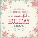 Weinlese-Weihnachtsrahmen - Illustration Weinlese-Text-Rahmen-Quadrat Lizenzfreie Stockfotografie
