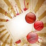 Weinlese-Weihnachtsrot lizenzfreie abbildung