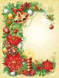 Weinlese-Weihnachtsschablone Stockfotos