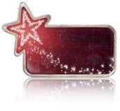 Weinlese-Weihnachtszeichen Stockfotos