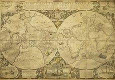Weinlese-Weltkarte Lizenzfreies Stockbild