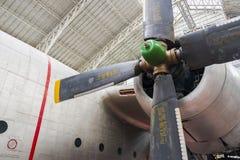 Weinlese-Werbungs-Flugzeug stockfotos