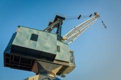Weinlese-Werft-Kran Lizenzfreies Stockbild
