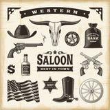 Weinlese-Westsatz Stockfotografie