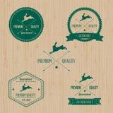 Weinlese-Wildkaninchen-Ausweissatz Stockbilder