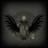 Weinlese wings Schild Stockbilder