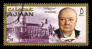 Weinlese Winston Churchill Postage Stamp von Adschman Lizenzfreies Stockbild