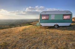 Weinlese-Wohnwagen Stockfoto