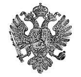 Weinlese-Zeichnung des Wappens des Königreiches von Böhmen als Teil des österreichischen Reiches stock abbildung