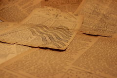Weinlese-Zeitungspapier Background7 stockbild