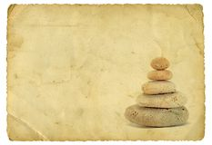 Weinlese-Zen lizenzfreie stockfotos