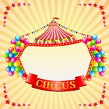 Weinlese-Zirkus-Plakat Lizenzfreies Stockbild