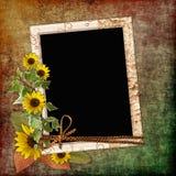 Weinlesealbumseite Stock Abbildung