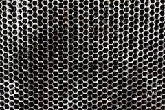 Weinleseantike Automobilheizkörperbienenwabe mit Oxidation und Abnutzung stockbild