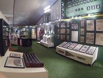 Weinleseanzeigetafel übersieht Baseballgeschichts-Ausstellung an der Ronald Reagan-Bibliothek in Simi Valley, Süd-Kalifornien Lizenzfreie Stockfotografie