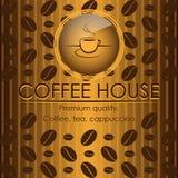 Weinleseart coffe Haus-Menüabdeckung Lizenzfreie Stockfotografie