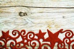 Weinleseart dekorative Weihnachtssterngrenze Stockfoto