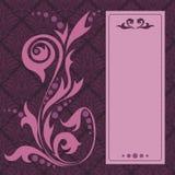 Weinleseart-Einladungskarte Lizenzfreies Stockbild