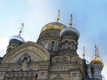 Weinleseart Sepiafoto Dormition Kirche St Petersburg lizenzfreie stockfotografie