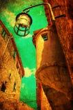 Weinleseartbild von Eze, Frankreich Stockfotografie