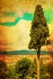 Weinleseartbild von Florenz, Italien Stockfoto