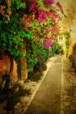 Weinleseartbild von Heilig-Paul-De-Vence, Frankreich Stockbild