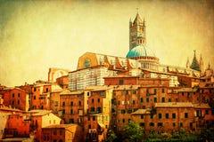Weinleseartbild von Siena, Italien Lizenzfreies Stockfoto