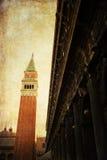 Weinleseartbild von Venedig Stockbilder