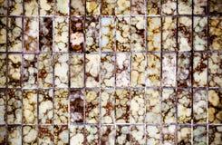 Weinleseartdesign der braunen Mosaikfliesenbeschaffenheit Lizenzfreies Stockbild