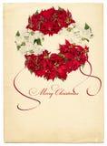 Weinleseartpostkarte Stockbilder