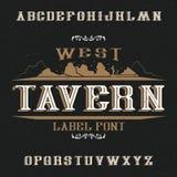 Weinleseaufkleber Guss genannte Tavern Lizenzfreie Stockbilder