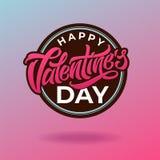 Weinleseaufkleber mit Gusszusammensetzung Glückliche Valentinsgruß ` s Tagestypographie Vektorillustration für Grußkarten und lizenzfreie abbildung