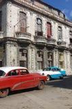 Weinleseautos, Havana, Kuba Stockbild