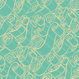 Weinlesebänder und -rollen Tapeten-nahtloses Muster Stockbild