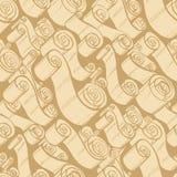 Weinlesebänder und -rollen Tapeten-nahtloses Muster Lizenzfreies Stockbild