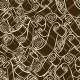 Weinlesebänder und -rollen Tapeten-nahtloses Muster Stockfotografie