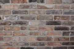 Weinlesebacksteinmauer, alte Beschaffenheit des roten Steins blockiert Nahaufnahme Stockfoto